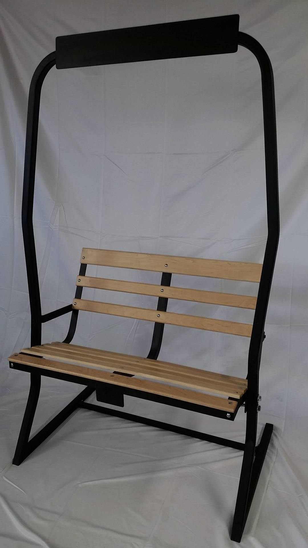 ski chairlift bench - hand refurbished to order - skichairlift